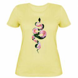 Жіноча футболка Snake and roses
