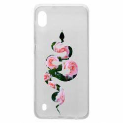 Чохол для Samsung A10 Snake and roses
