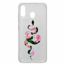 Чохол для Samsung A20 Snake and roses