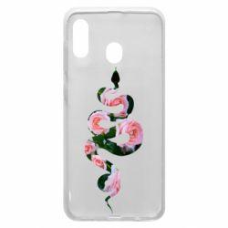 Чохол для Samsung A30 Snake and roses
