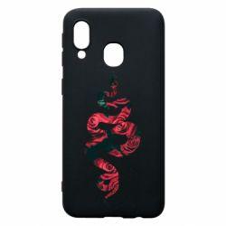 Чохол для Samsung A40 Snake and roses