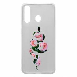 Чохол для Samsung A60 Snake and roses