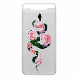 Чохол для Samsung A80 Snake and roses