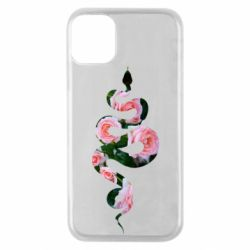 Чохол для iPhone 11 Pro Snake and roses