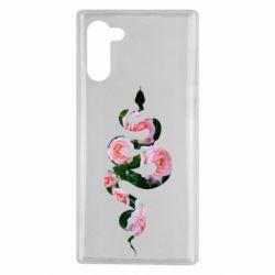 Чохол для Samsung Note 10 Snake and roses