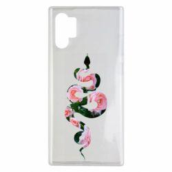 Чохол для Samsung Note 10 Plus Snake and roses