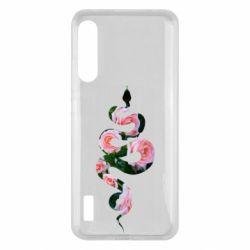 Чохол для Xiaomi Mi A3 Snake and roses