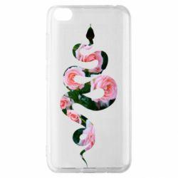 Чехол для Xiaomi Redmi Go Snake and roses