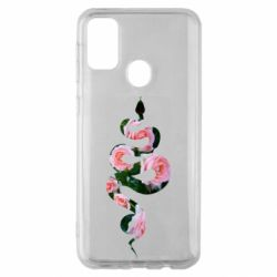 Чохол для Samsung M30s Snake and roses