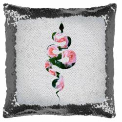 Подушка-хамелеон Snake and roses