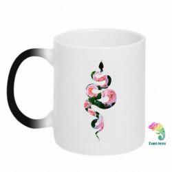 Кружка-хамелеон Snake and roses