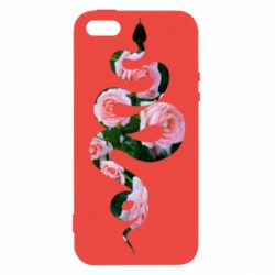 Чохол для iphone 5/5S/SE Snake and roses