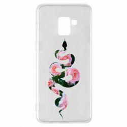 Чохол для Samsung A8+ 2018 Snake and roses