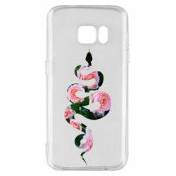 Чохол для Samsung S7 Snake and roses