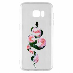 Чохол для Samsung S7 EDGE Snake and roses