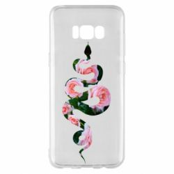 Чохол для Samsung S8+ Snake and roses