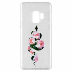Чохол для Samsung S9 Snake and roses