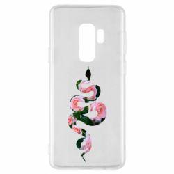 Чохол для Samsung S9+ Snake and roses