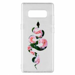 Чохол для Samsung Note 8 Snake and roses