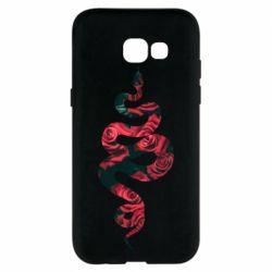 Чохол для Samsung A5 2017 Snake and roses