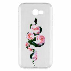 Чохол для Samsung A7 2017 Snake and roses