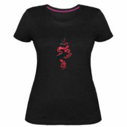 Жіноча стрейчева футболка Snake and roses