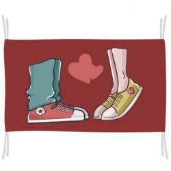 Прапор Sneakers and heart