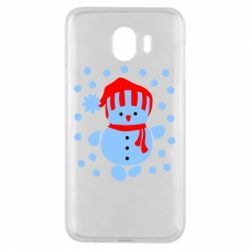 Чехол для Samsung J4 Снеговик в шапке - FatLine