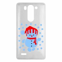 Чехол для LG G3 mini/G3s Снеговик в шапке - FatLine