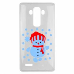Чехол для LG G4 Снеговик в шапке - FatLine