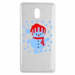 Чехол для Nokia 3 Снеговик в шапке - FatLine