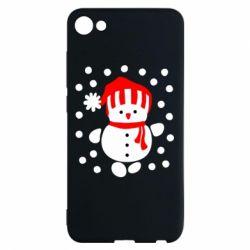 Чехол для Meizu U10 Снеговик в шапке - FatLine