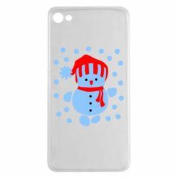 Чехол для Meizu U20 Снеговик в шапке - FatLine