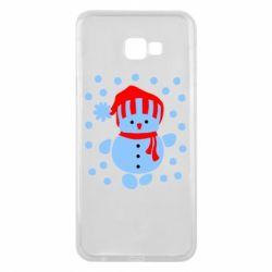 Чехол для Samsung J4 Plus 2018 Снеговик в шапке - FatLine