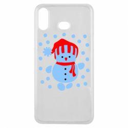 Чехол для Samsung A6s Снеговик в шапке - FatLine
