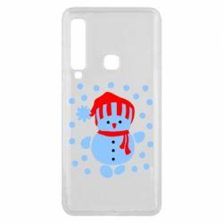 Чехол для Samsung A9 2018 Снеговик в шапке - FatLine