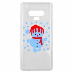 Чехол для Samsung Note 9 Снеговик в шапке - FatLine