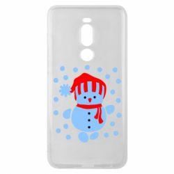 Чехол для Meizu Note 8 Снеговик в шапке - FatLine