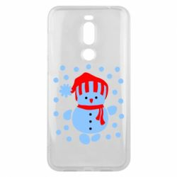 Чехол для Meizu X8 Снеговик в шапке - FatLine