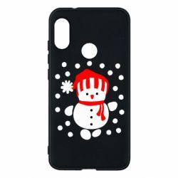 Чехол для Mi A2 Lite Снеговик в шапке - FatLine