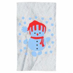 Полотенце Снеговик в шапке - FatLine