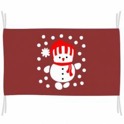 Флаг Снеговик в шапке