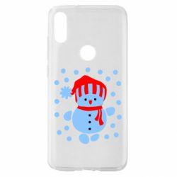 Чохол для Xiaomi Mi Play Сніговик в шапці