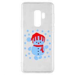 Чехол для Samsung S9+ Снеговик в шапке - FatLine