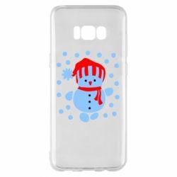 Чехол для Samsung S8+ Снеговик в шапке - FatLine