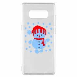 Чехол для Samsung Note 8 Снеговик в шапке - FatLine