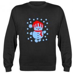 Реглан Снеговик в шапке - FatLine
