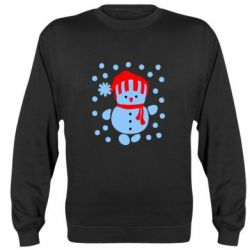 Реглан (свитшот) Снеговик в шапке - FatLine