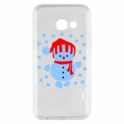 Чехол для Samsung A3 2017 Снеговик в шапке - FatLine
