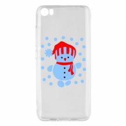 Чехол для Xiaomi Xiaomi Mi5/Mi5 Pro Снеговик в шапке - FatLine